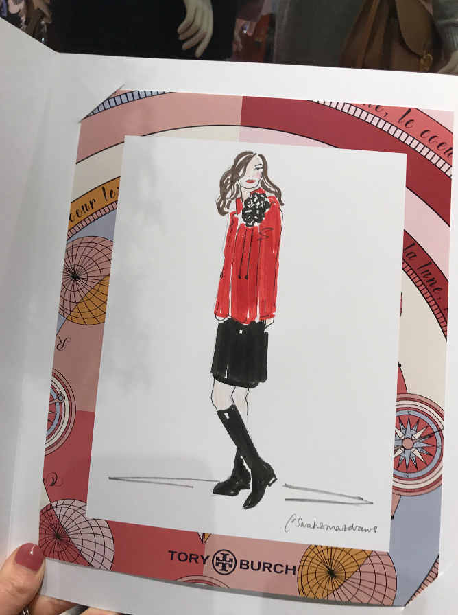 Tory Burch Event Illustration
