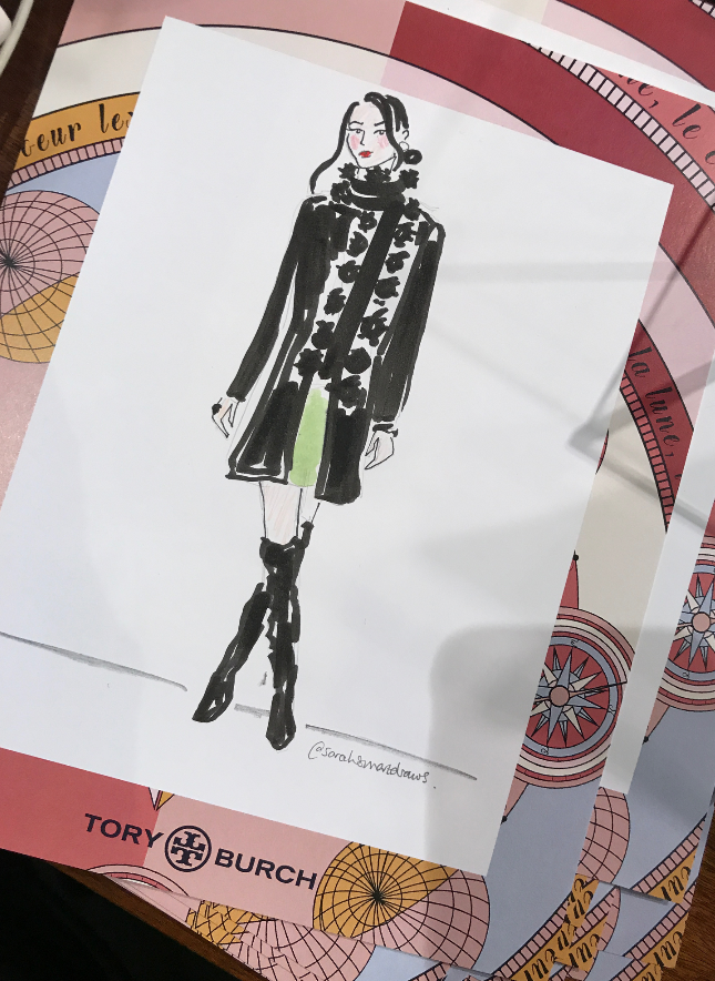 Tory Burch Fashion Illustrator