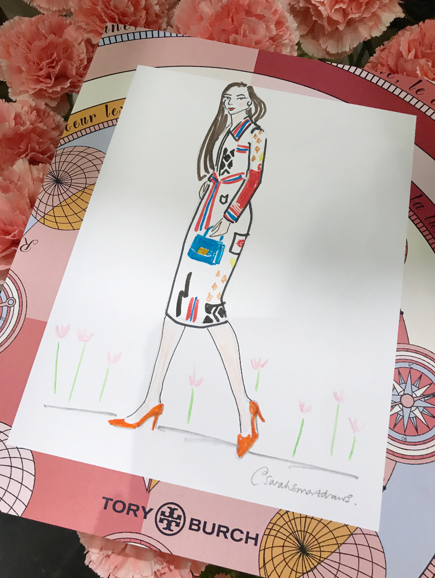 Tory Burch Live Fashion Illustration