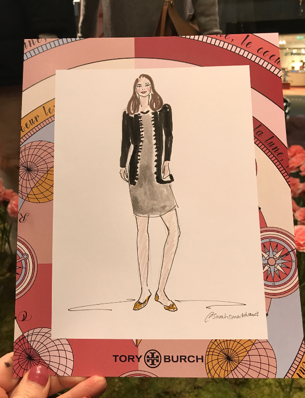 Live fashion Illustration Bond Street