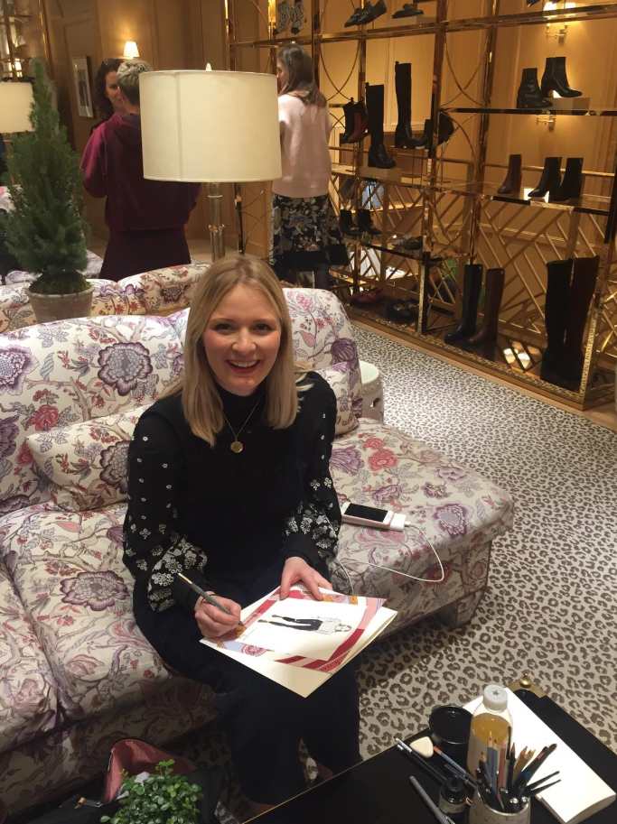 Live Fashion Illustrator for Tory Burch