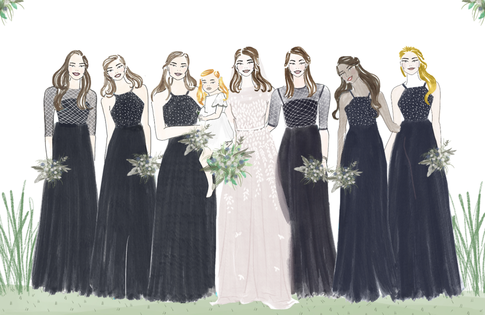 Motee Maids Bridesmaid Illustration