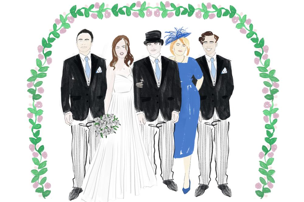Wedding Bride and Groom Illustration