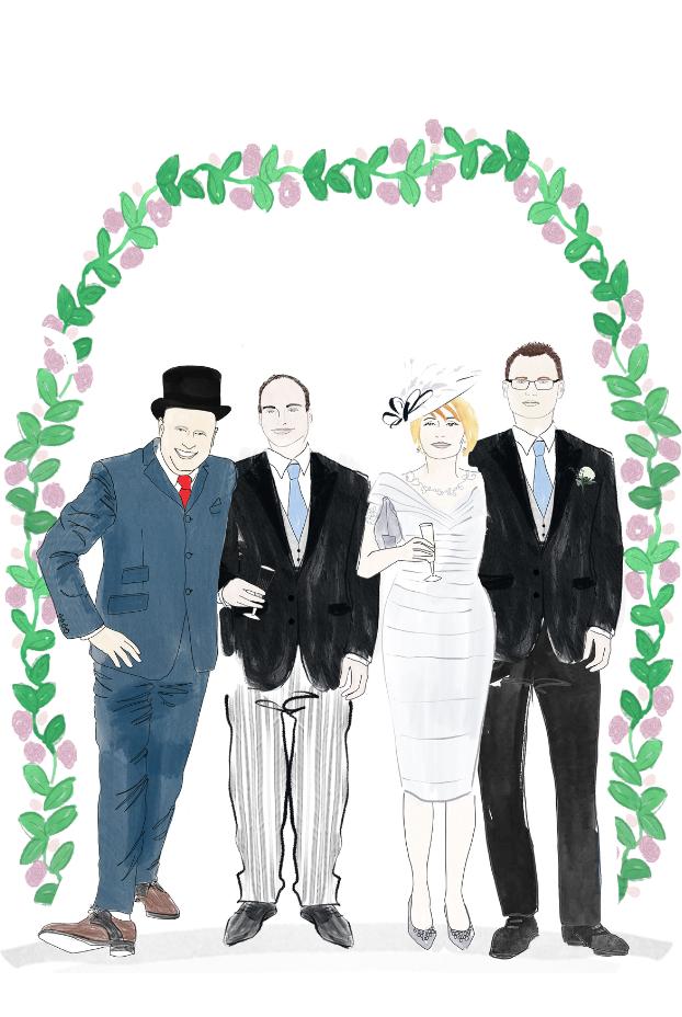 Wedding Guest Illustration