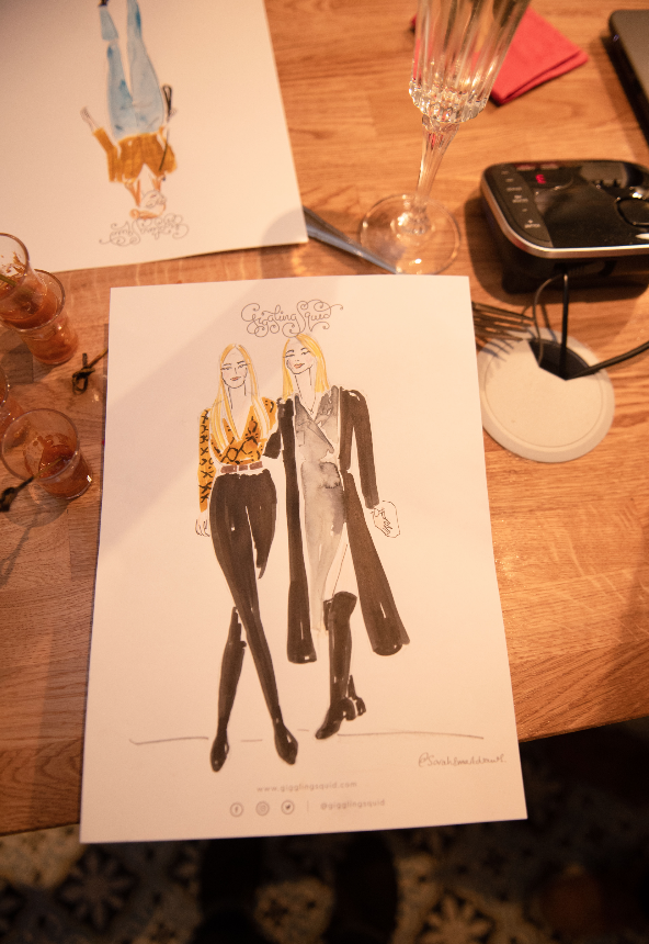 Private Event Fashion Illustration
