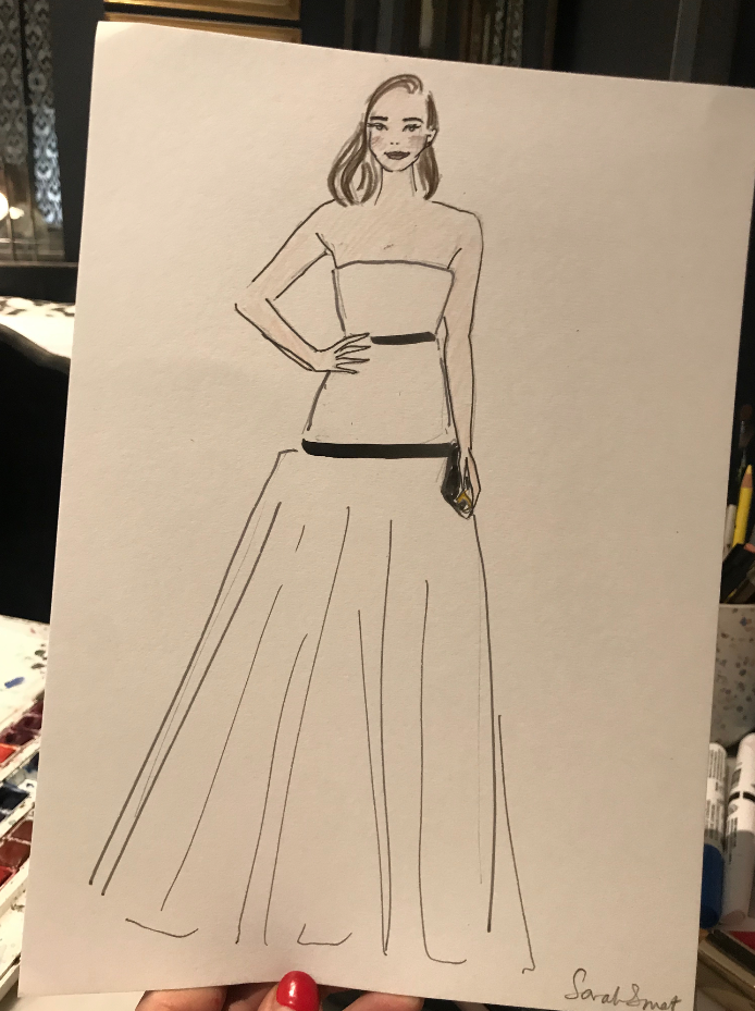 Fashion Influencer Event Illustration @lilahparsons