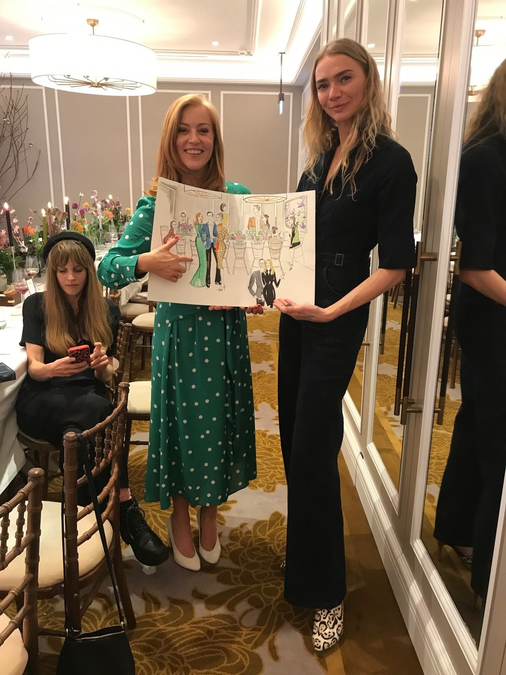 Sarah-Jane Mee and Jodie Kidd Fashion Illustration