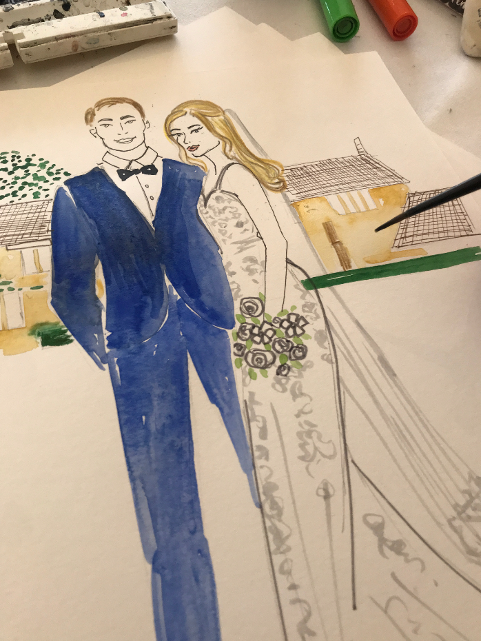 Live Wedding Illustrator