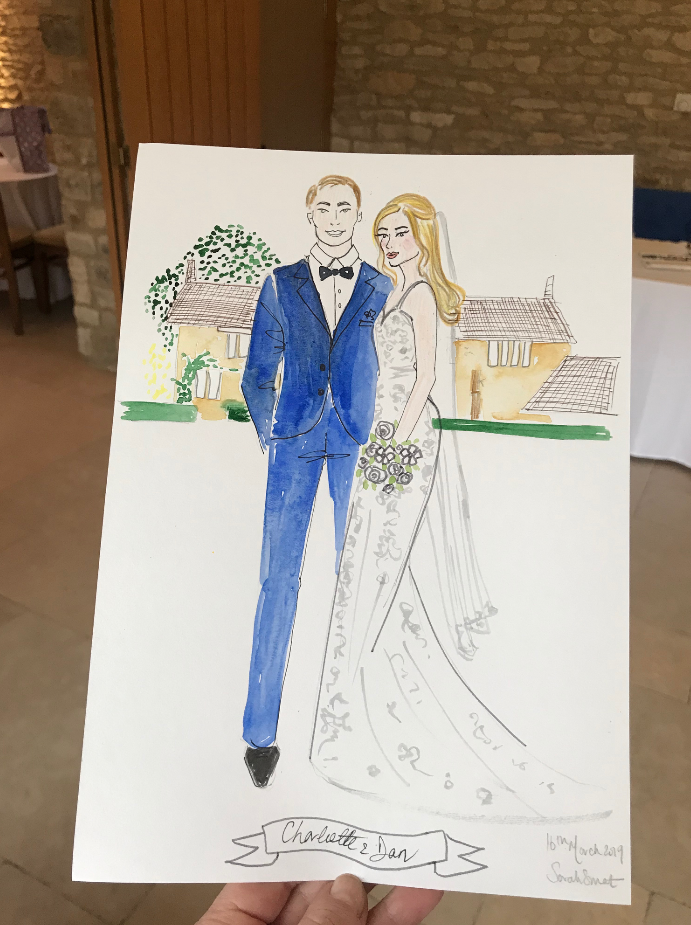 Bride and Groom Fashion Illustrator