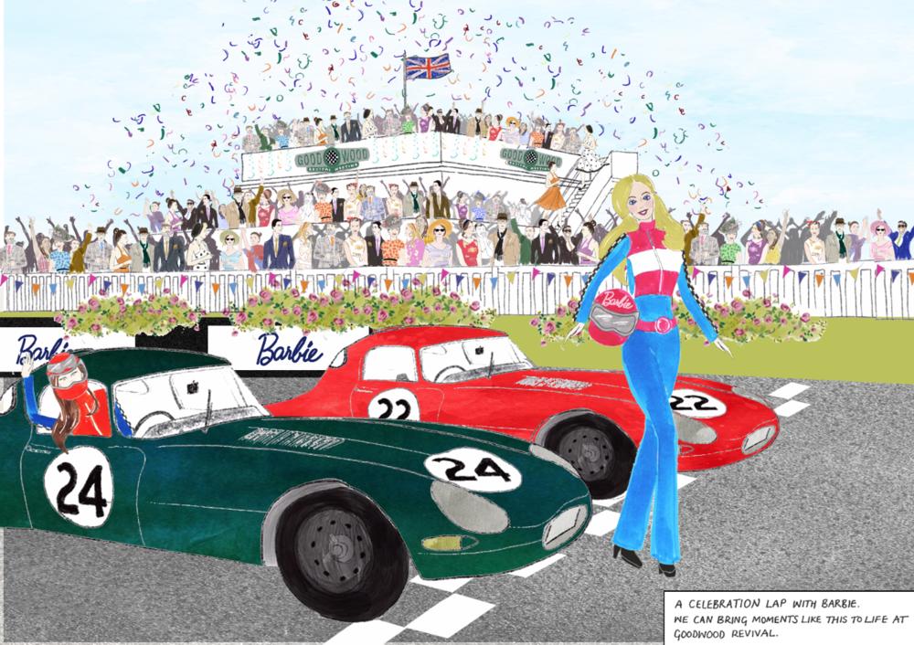 Goodwood Festival Illustration and Barbie