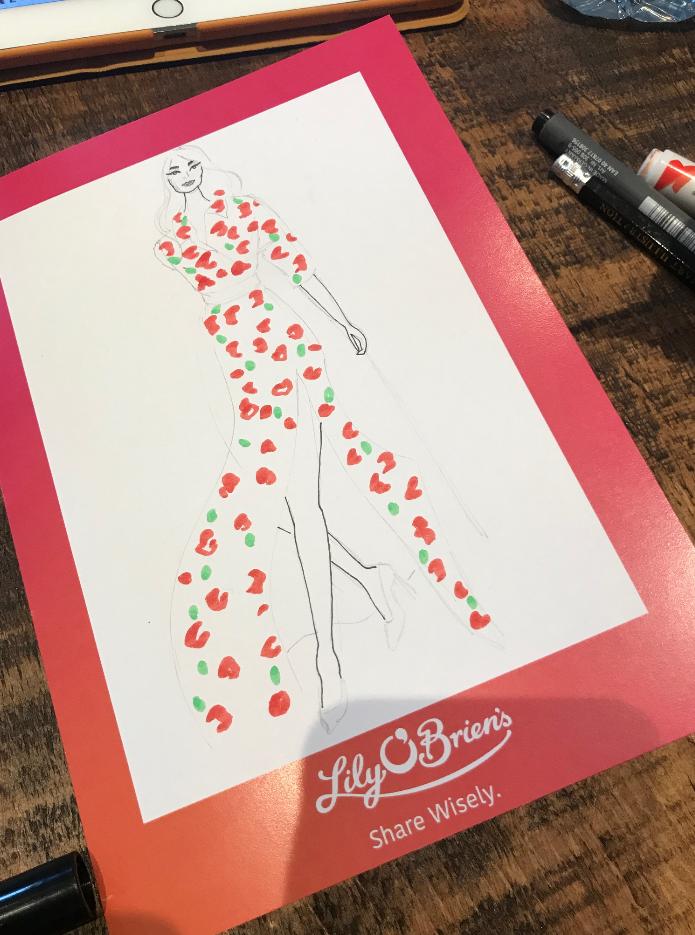Fashion Influencer Event Illustration