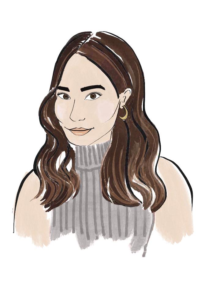 Delphine Choi ELLE Beauty Illustration