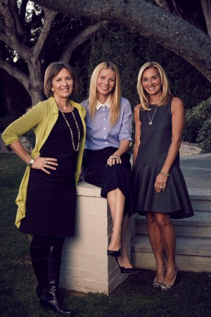 Karen Behnke, Gwyneth Paltrow and Lisa Gersh. IMAGE CREDIT: James Lee Wall