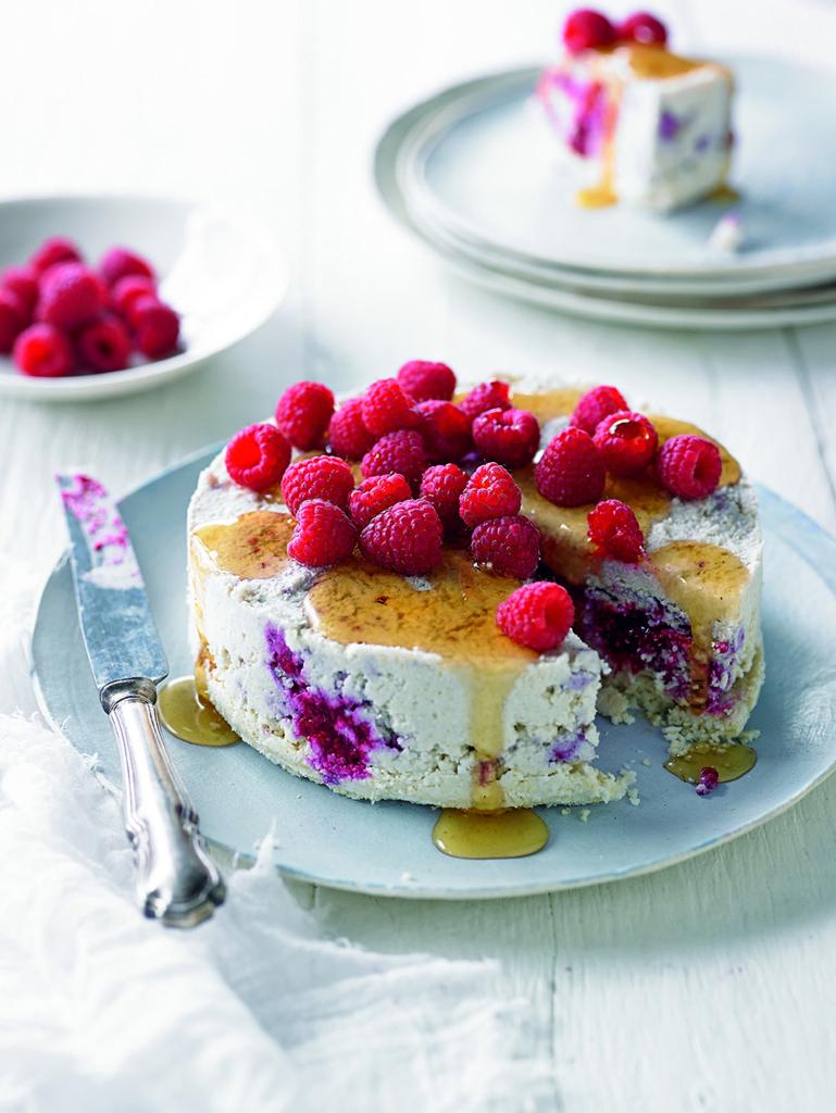 cauliflower raspberry cheesecake