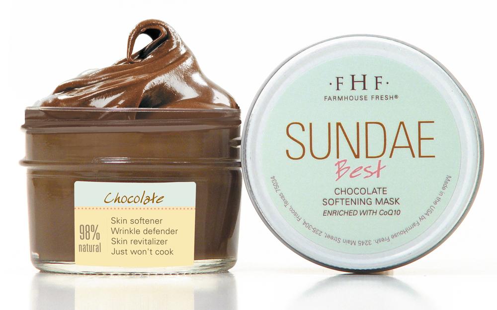FARMHOUSE FRESH: SUNDAE BEST CHOCOLATE SOFTENING MASK - $22