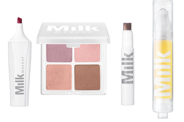Lip Marker, Matte Quad, Shadow Liner, Sunshine Oil (Photos: Milk Makeup)