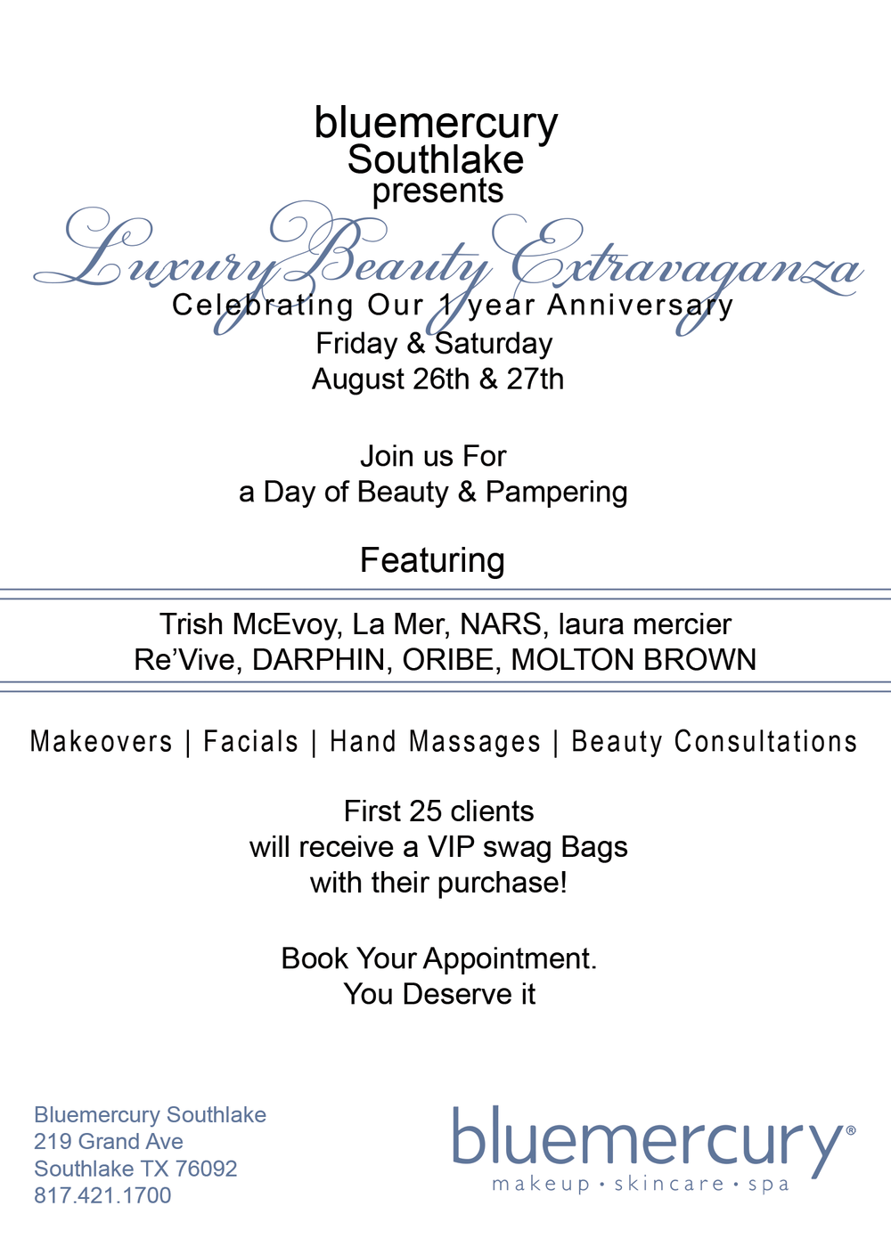 DFW Beauty Events: Blue Mercury