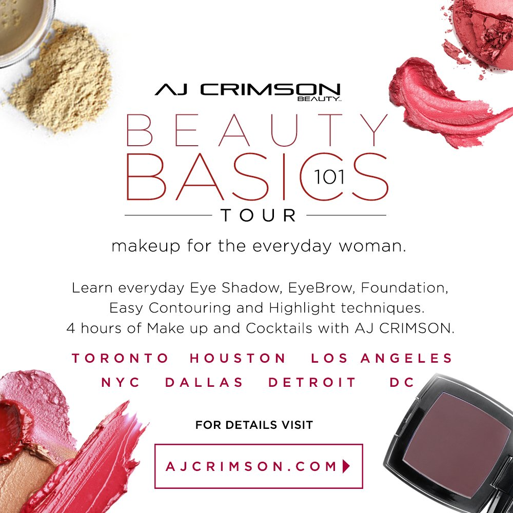 DFW Beauty Event: AJ Crimson Beauty Basics