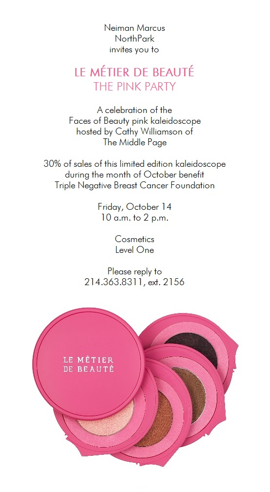 DFW Beauty Events: Le Métier de Beauté: The Pink Party