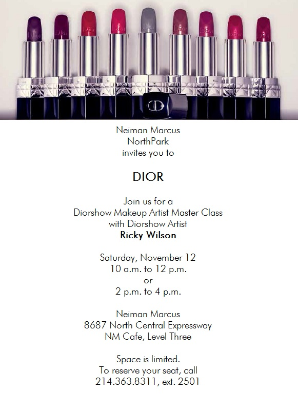 DFW Beauty Guide - Dior Master Class