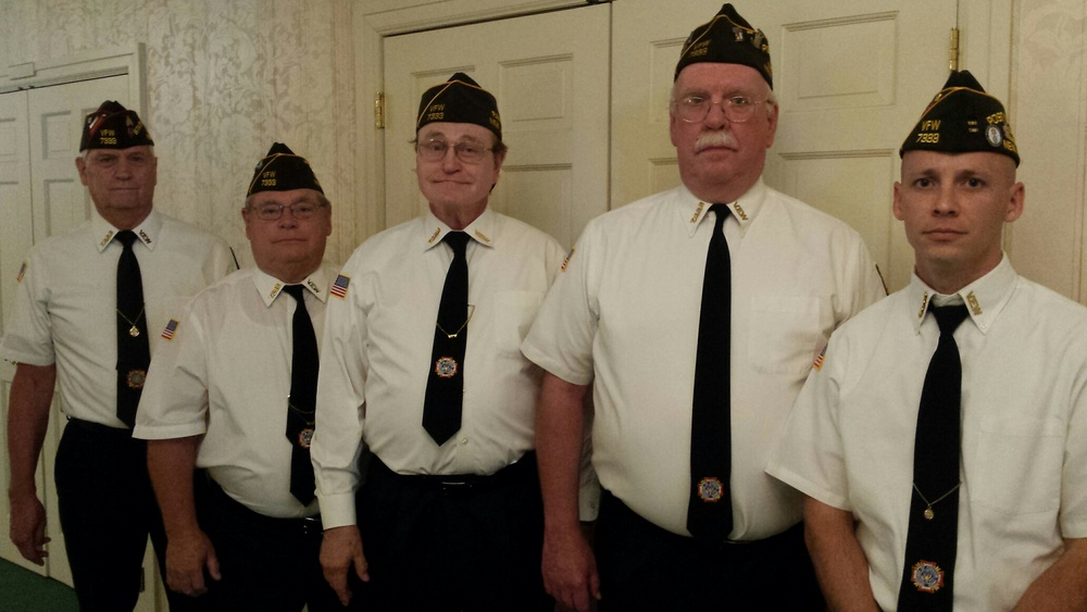 On July 15 VFW Post 7333 members Jack, Ted, Bill, John and Commander Scott were honored to perform the funeral ceremony for Richard Newman. Richard served in the US Army during the Korean War. He was a distinguished Alderman and Mayor of Dover for over 25 years. Richard was a life member of VFW Post 7333.