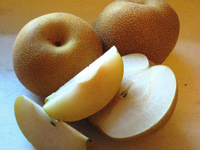 The best way to eat an Asian pear!