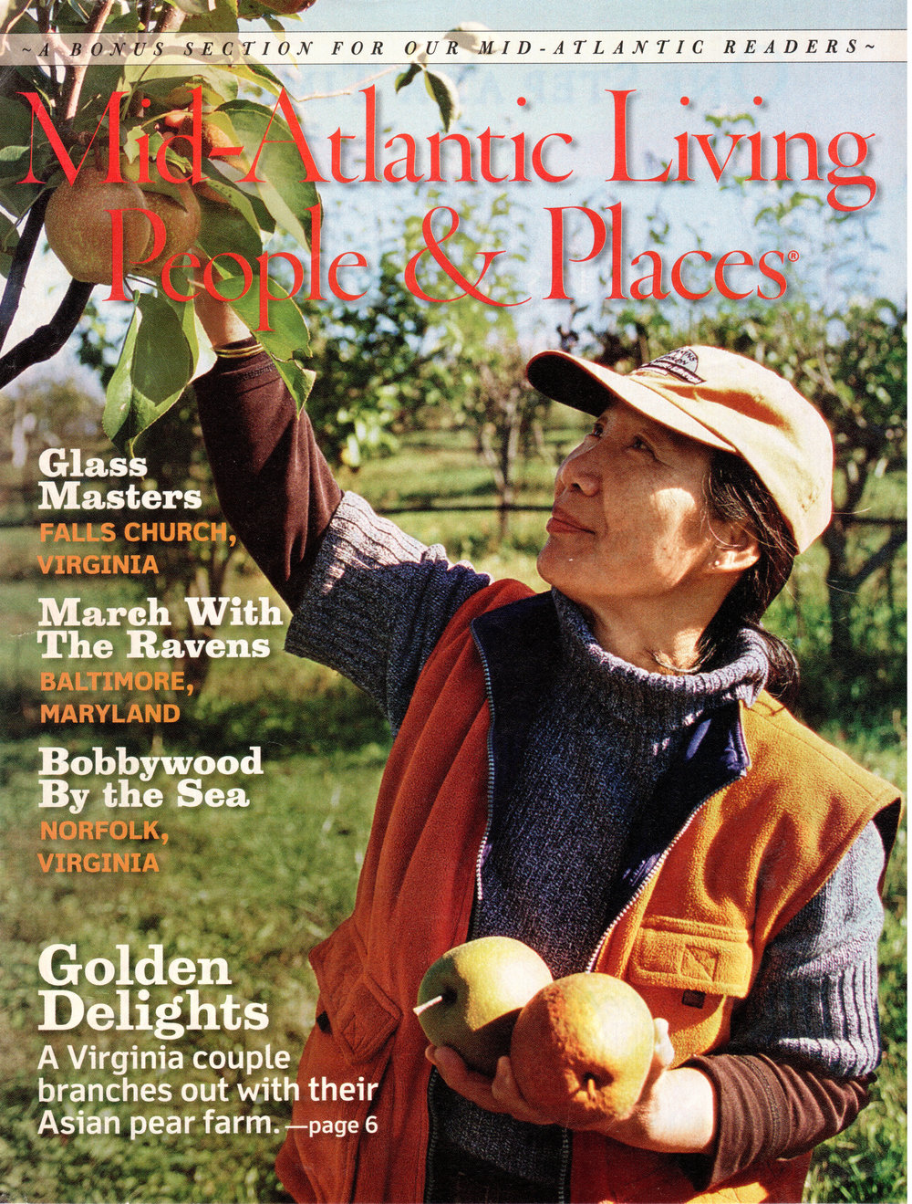 Youngsuk Estabrook and Virginia Gold Orchard on the cover of Southern Living's Mid-Atlantic issue