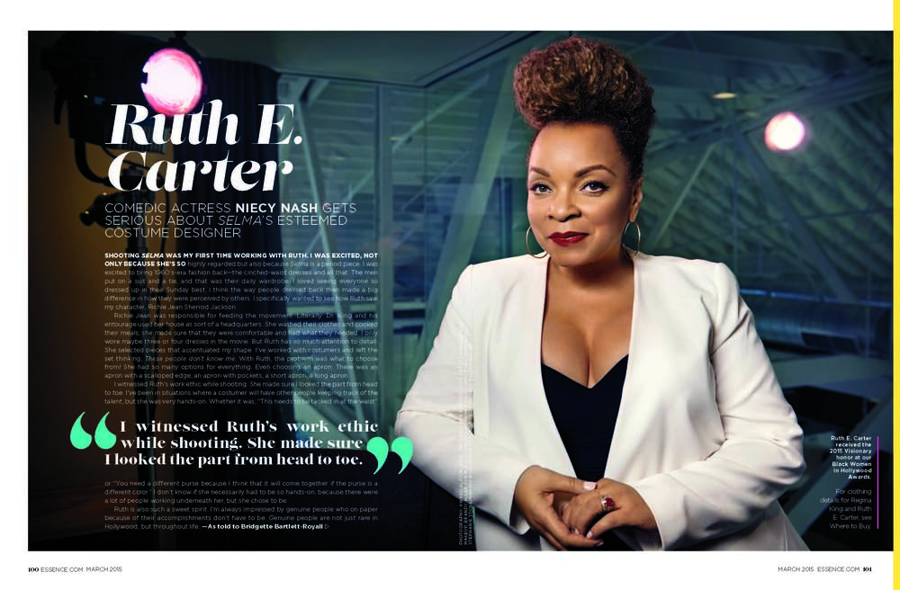 Essence Feature, Fashion Stylist for Ruth Carter