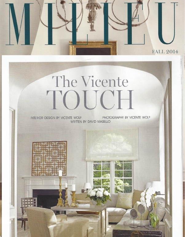 Milieu Magazine feature, Vicente Wolf