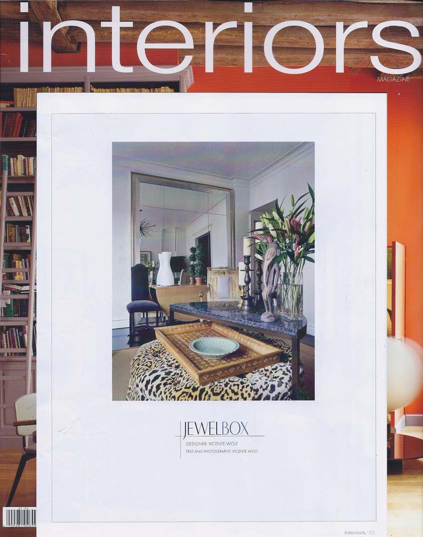 Interiors Magazine feature, Vicente Wolf