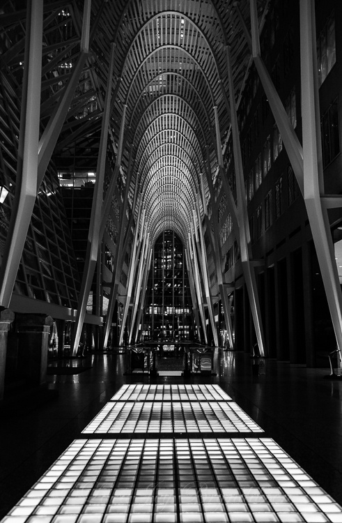 Eaton Centre at night, Toronto, Canada.