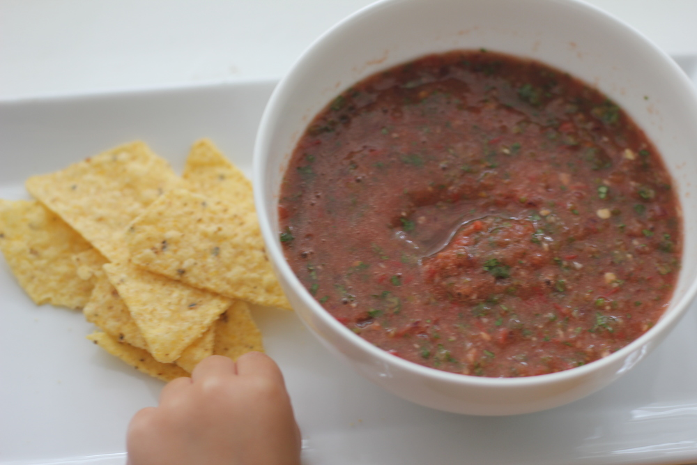 No one can resist chips and homemade salsa!