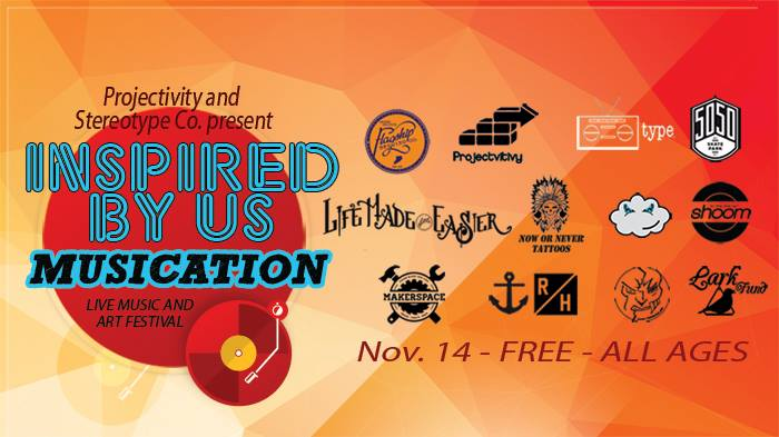 Musication will take place at 5050 Skatepark on November 14,2014. Free for all ages