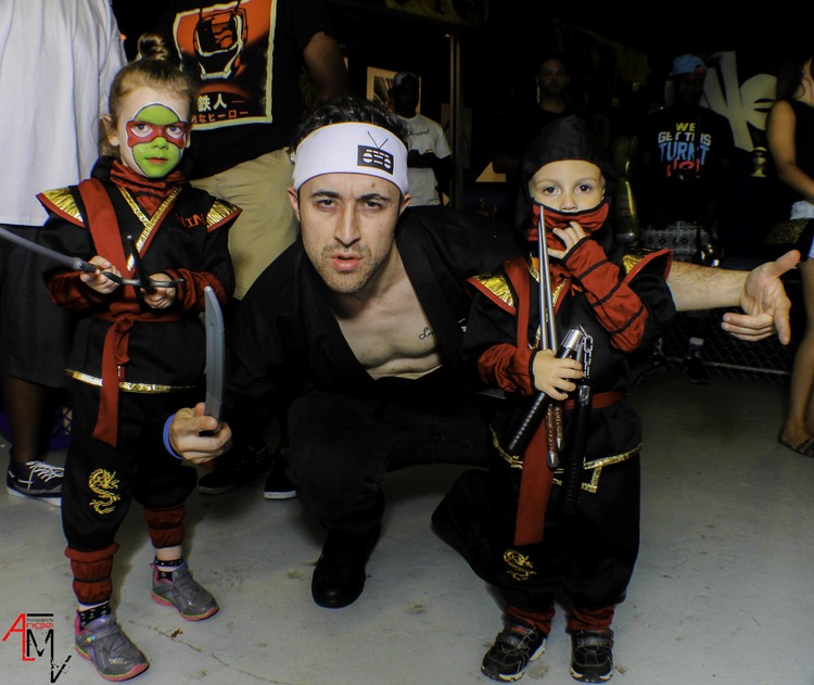 Dave Noodlez and the young Ninjas by Angie (Ninja Party Photos)