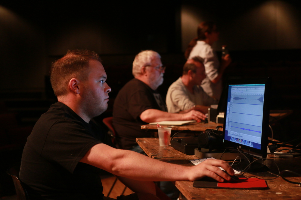 A Tech Tools participant editing an audio file. Tech Tools provides all the necessary gear for classes, while also giving equipment and software recommendations for use on your own projects.