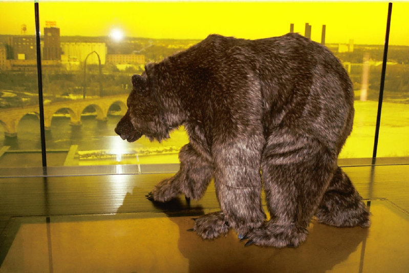 Grizzly bear created for Guthrie Theatre