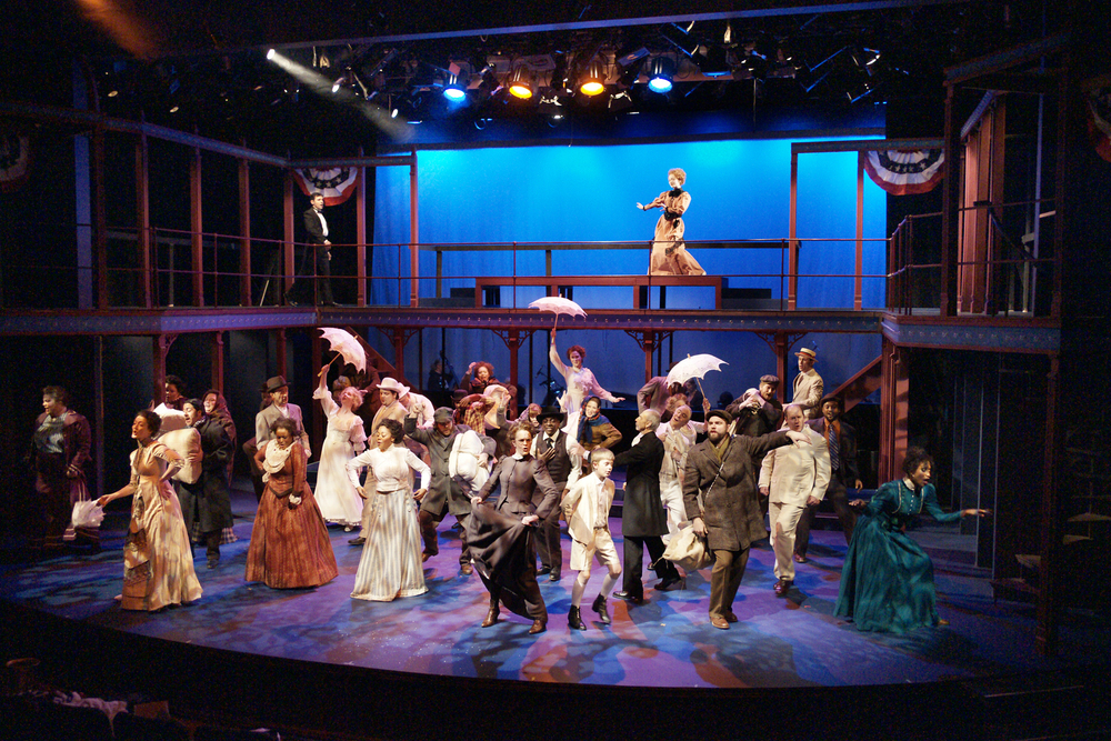 Ragtime  , Produced by Park Square Theatre. Directed by Gary Gisselman. Choreography by Michael Matthew Ferrell. Costume Design by Andrea M Gross. Set Design by Rick Polenek. Lighting Design by Mike Kittel. Photo Credit: Petronella Ytsma