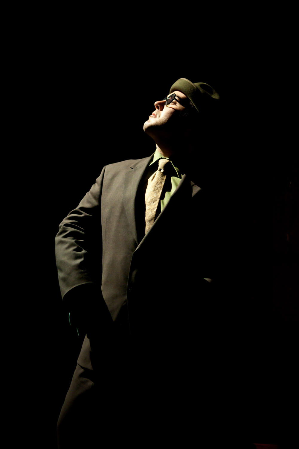 Walking Shadow Theatre Company,   after the quake.   Pictured: Brant Miller as Frog. Photo credit: Dan Norman.   Director: Amy Rummenie,   Costume design: Andrea Gross,   Lighting design: Peter Mitchell,   Scenic design: Steve Kath