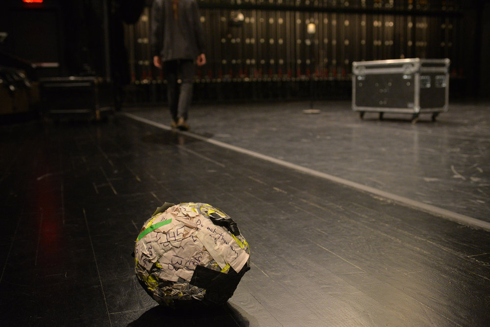 A ball of gaffer's tape in Soft Goods (2016). Photo: Sean Smuda