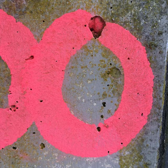 Circles and mold outside the Caracalla  Therme. #Circles #spraypaint #mold #therme