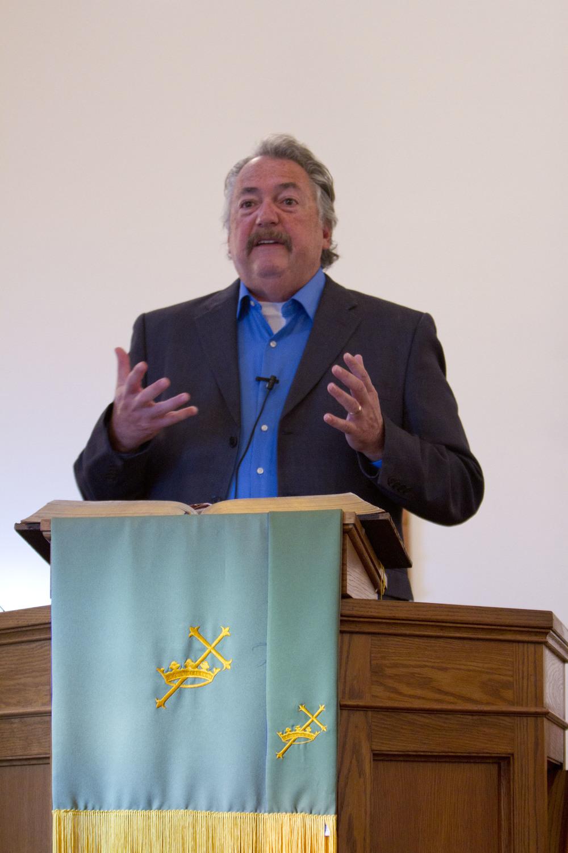 Pastor Al Spangler delivers his sermon