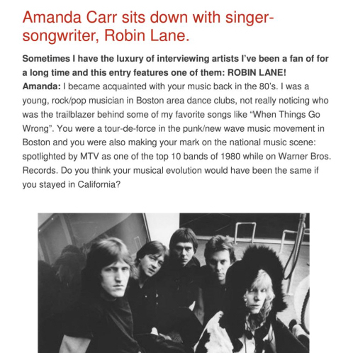 Amanda Carr Interview