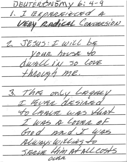 Chuck's Last Journal Entry