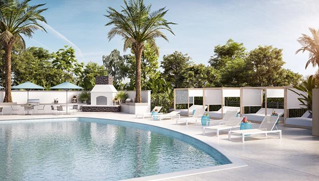 Poolside daydreaming 💫 pool lounge renovation for the #Allure project