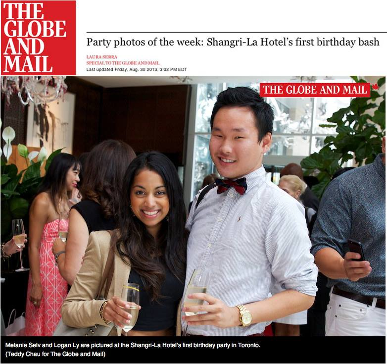 The Globe and Mail  - Party photos of the week