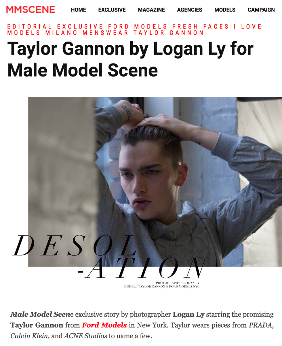 Male Model Scene  - Taylor Gannon by Logan Ly