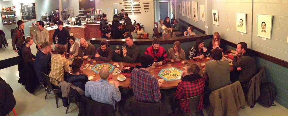 First Settlers of Catan game night, January 2015