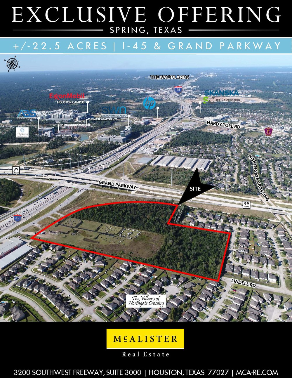 +/- 22.5 Acres Grand Parkway & i-45