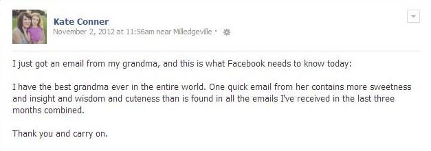 Grandma's Email