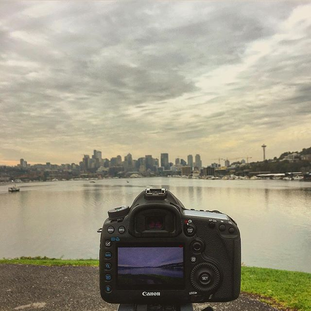 Good Morning Seattle! #Seattle #sunrise #canon #instagood #photography #gasworkspark #productionlife #friday